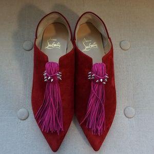 NWOB Red Size 4 Christian Louboutin Medinana Flats